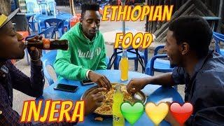 Mukbang style eating Ethiopian Food with my bros (travel vlog part 2)
