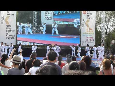 Oppa Gangnam Style Kukkiwon Taekwondo Demo Thames Festival 2012 - 1