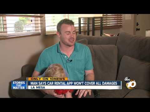 La Mesa man says car rental app won't cover damages