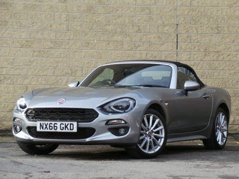 nx66gkd fiat 124 spider 1 4 multiair lusso plus convertible in argento grey youtube. Black Bedroom Furniture Sets. Home Design Ideas