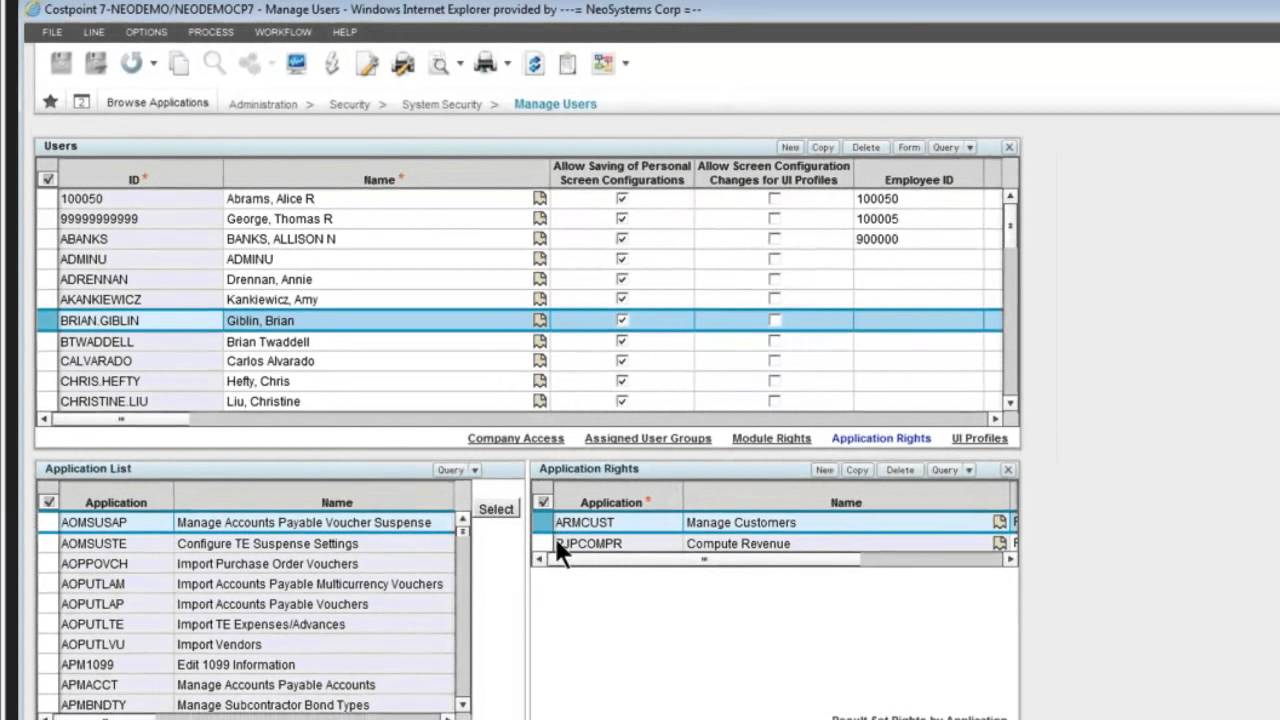 mastering user security in costpoint 7