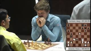 Magnus Carlsen Blunders a Pawn in his game against Anand - Shamkir Chess tournament 2015