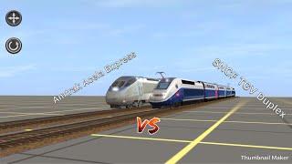 Amtrak Acela Express vs SNCF TGV Duplex
