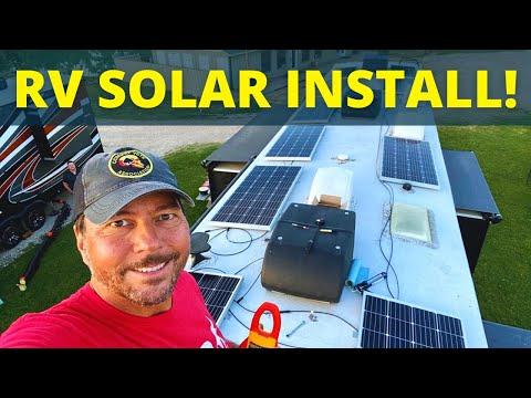 ☀️  RV Solar Install! 😎  (Full Time RV Life)