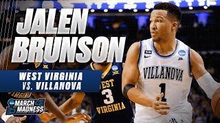 Villanova's Jalen Brunson drops 27 points on West Virginia in the Sweet 16