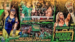Resumen MONEY IN THE BANK 2021 JOHN CENA Regreso a WWE NIKKI CROSS y BIG E Ganaron los Maletines