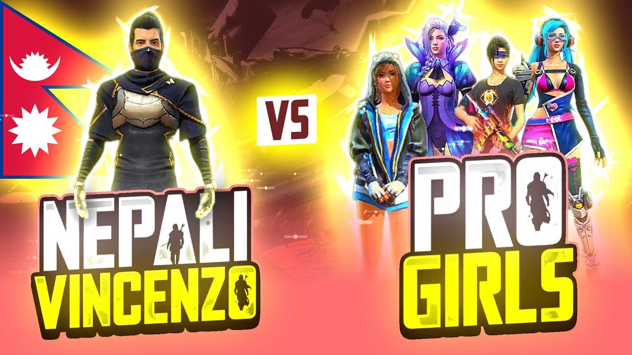 Nepali Vincenzo 😱 Vs Pro Players || Upcoming Legend 🤔 ?? - Garena Free Fire