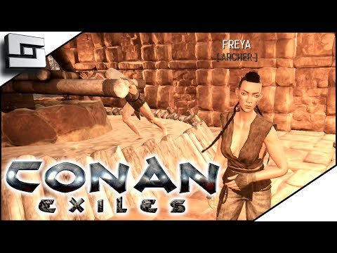 Conan Exiles Gameplay - Unique/Named  Level 4 Thrall!