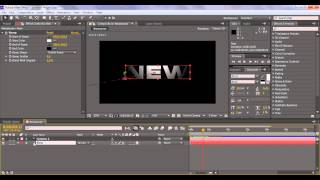 Видео Урок в программе After Effects CS6, Динамичные титры