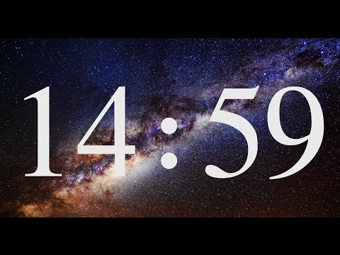 15 Minutes COUNTDOWN Timer ( v 573 ) with relaxing music piano 4k