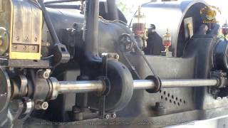 Moteur Japy - ancient gas engine startup
