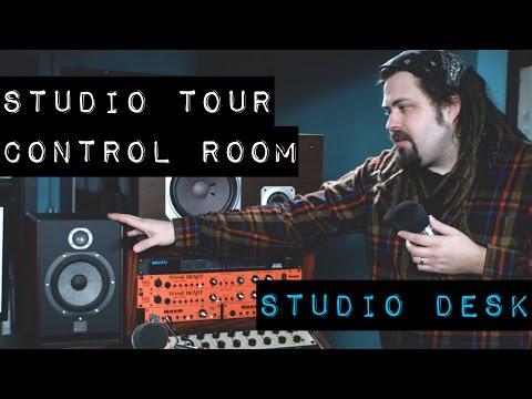 Recording Studio Tour - Part 2 - Studio Desk, Rack Gear, Monitors, and Preamps