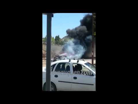 Bomberos debieron apagar un incendio de un basural en el barrio El Progreso