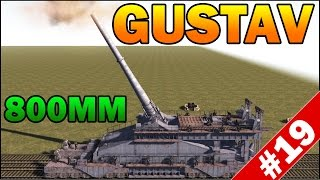 800MM SCHWERER GUSTAV RAILWAY GUN vs DEFENSE - Men of War Assault Squad 2 - Mini Scenario #19