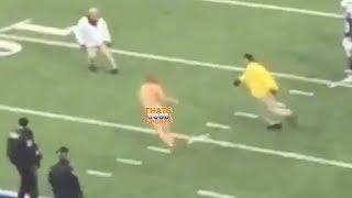 Bills Fan Streaks on Field for 100 Yards