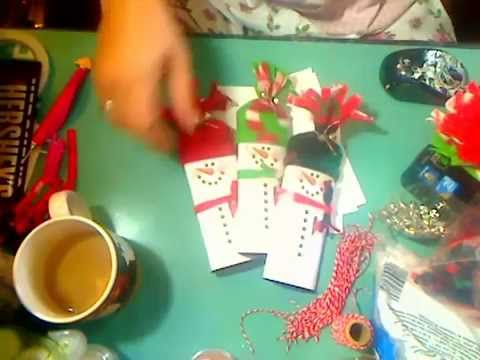 Snowman Chocolate Bar Wrapper with fleece hat and scarf - YouTube