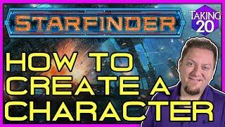 Starfinder: كيفية إنشاء شخصية | كيف تلعب Starfinder | Taking20
