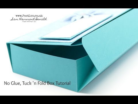 Large No Glue Tuck 'n Fold Stampin' Up! Tranquil Textures Box - วันที่ 27 Jun 2018