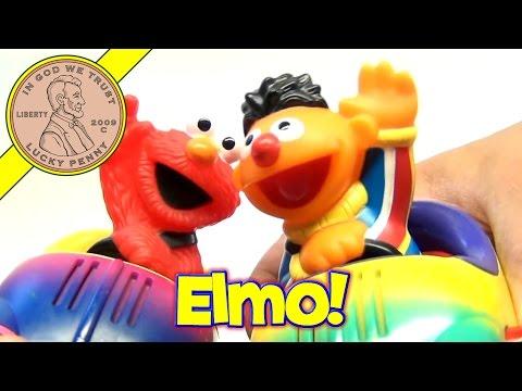 Sesame Street Ernie & Elmo Bumper Cars Set, 2002 Mattel Toys