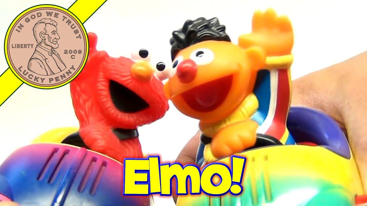 Sesame Street Ernie  Elmo Bumper Cars Set 2002 Mattel Toys  YouTube