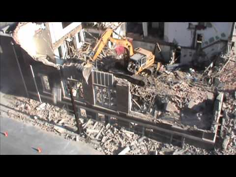 Case Demolition Excavator Destroys Church in Charlotte NC