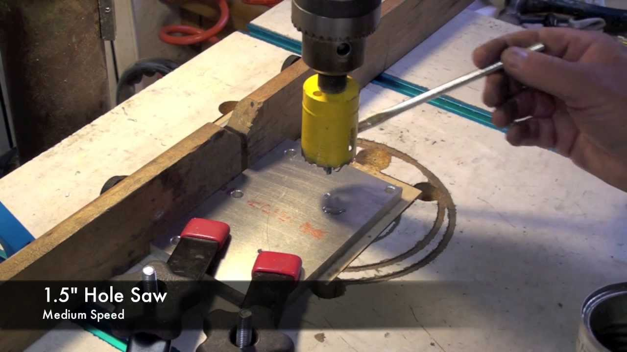 Drilling Holes In Aluminum Youtube