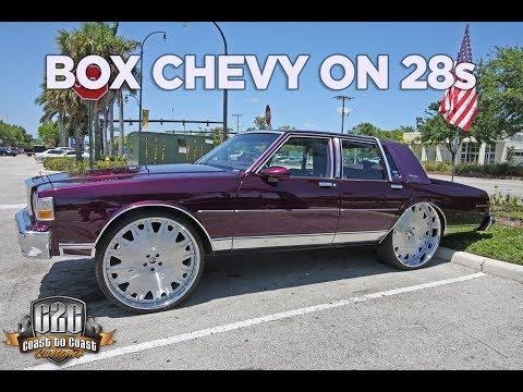 Box Chevy on 28 Inch Wheels Grape Ape