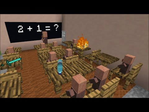 Minecraft VILLAGER SCHOOL CLASSROOM / FIND OUT THE MADNESS OF THE VILLAGERS !! Minecraft thumbnail