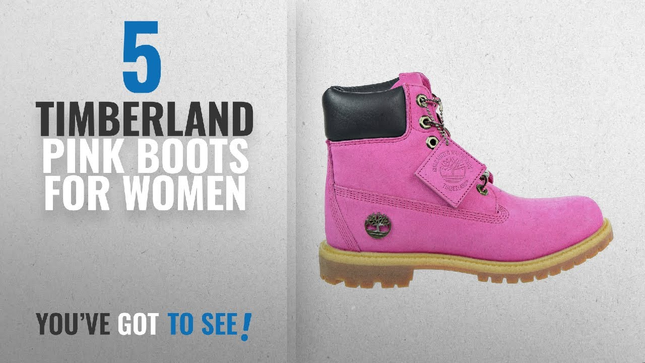 Top 5 Timberland Pink Boots For Women [2018]: Timberland Women's 6