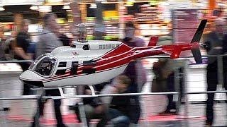 BELL-206 LONGRANGER BIG RC VARIO SCALE MODEL HELICOPTER INDOOR FLIGHT / Intermodellbau Dortmund 2016