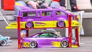 Awesome RC Drift Cars and Vans in Action! Nice Show!