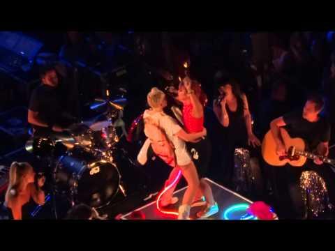 Miley Cyrus - Not Fair ft. Lily Allen Nashville BANGERZ TOUR AUG 07, 2014