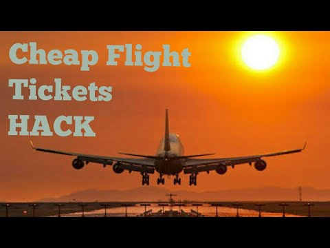 Cheap Flights? Here's a HACK to get cheap tickets for air travel