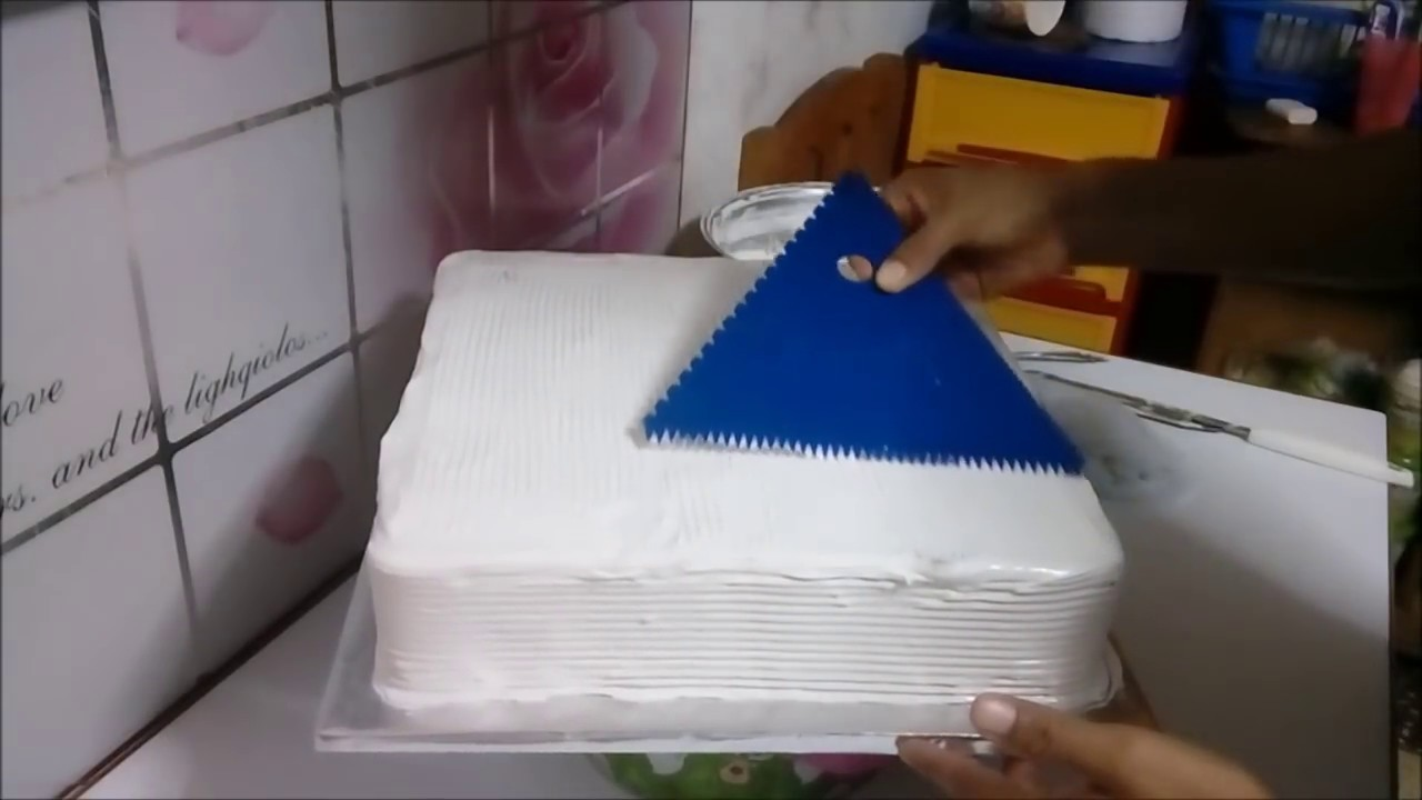 Cómo Decorar Torta O Pastel Cuadrado Con Merengue Nivel Principiantes Youtube
