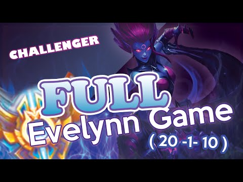 Liquid Moon - Full Evelynn game with commentary (20-1-10) Challenger