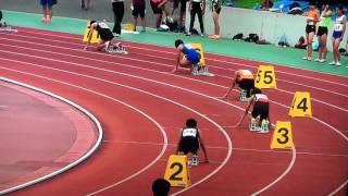 2015中学男子共通4×100リレー 八王子市記録会~八王子市立中山中学校~