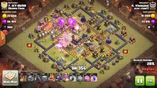 TH11 3 Star Without BK and AQ! -Clash of Clans- LavaLoon