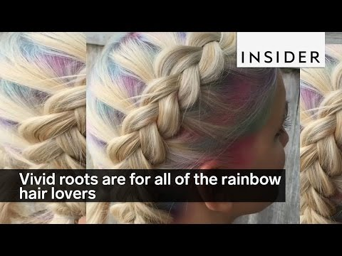 Vivid roots are for all of the rainbow hair lovers