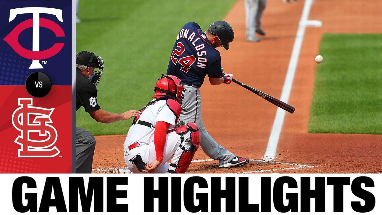 Josh Donaldson, Jose Berríos lead Twins' win | Twins-Cardinals Game 1 Highlights 9/8/20