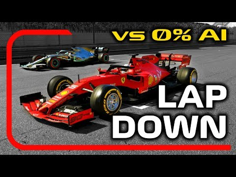 Can You Beat 0% AI from being A LAP DOWN on the F1 2019 Game?! |