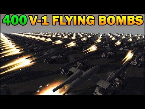 Men of War Assault Squad 2 - 400 V-1 FLYING BOMBS - MASSIVE ASSAULT - Editor Scenario #64