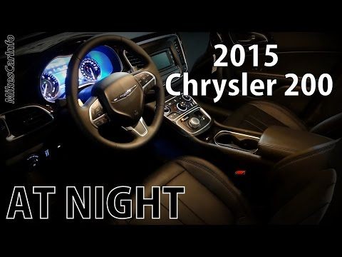 2015 Chrysler 200 AT NIGHT