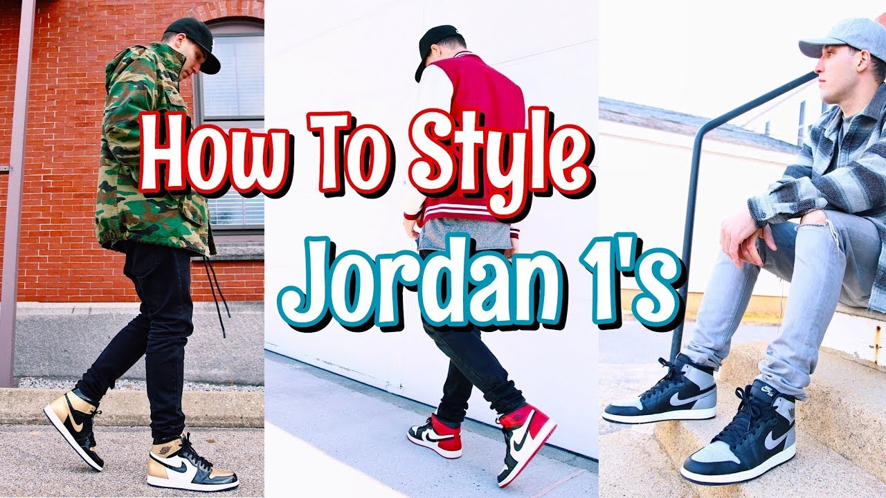 26c053457973 HOW TO STYLE AIR JORDAN 1 S - YouTube