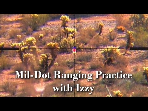 Millet TRS-1--Mil-Dot-Bar--Ranging Practice to 800 yards