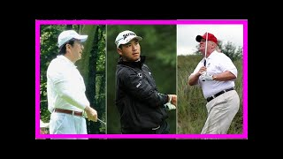 Breaking News | Donald trump plays golf with japanese prime minister and hideki matsuyama
