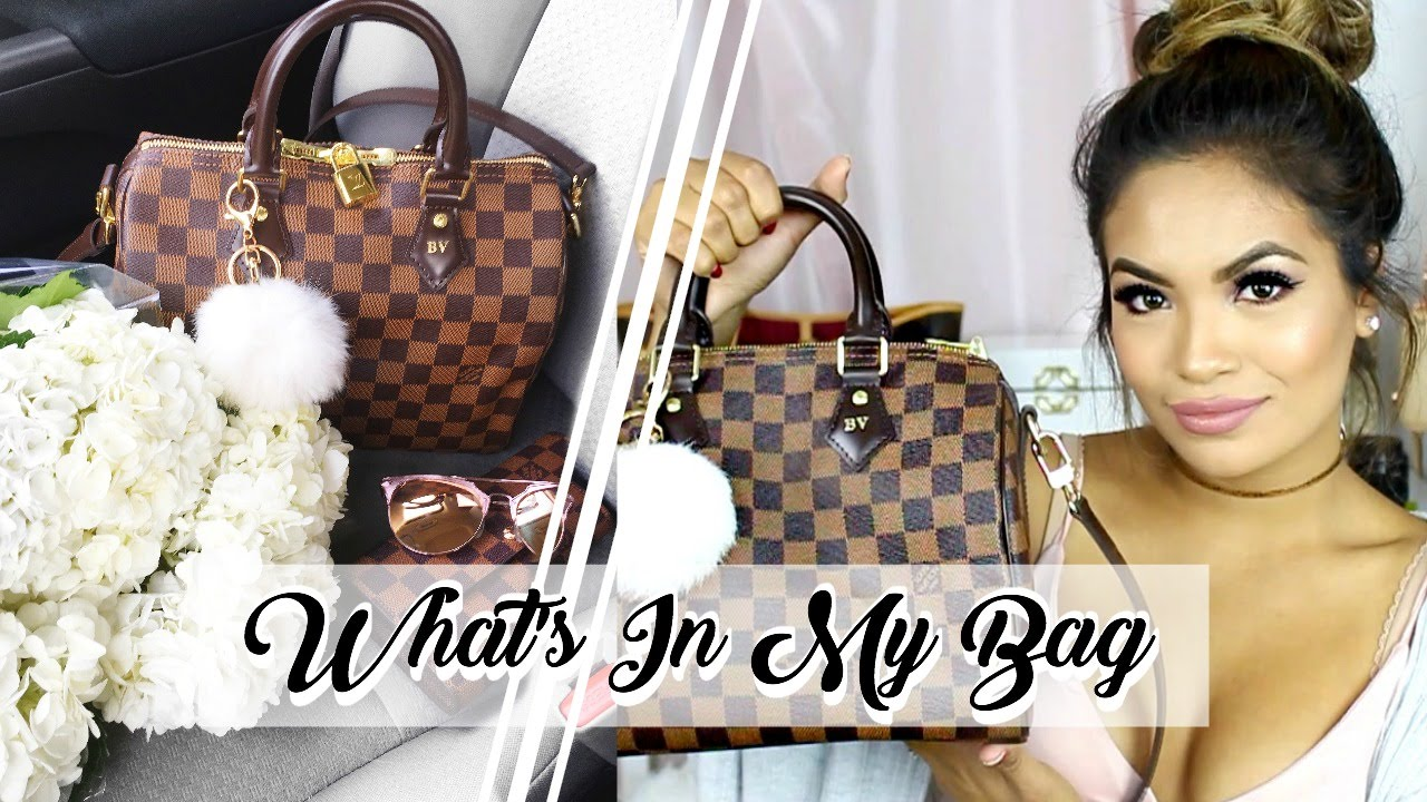 5d74b101730c WHAT S IN MY BAG - Louis Vuitton Speedy Bandouliere 25 Damier Ebene ...