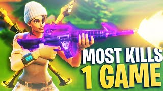 My MOST KILLS in Fortnite Battle Royale EVER!! (Fortnite Best Solo Win Gameplay)