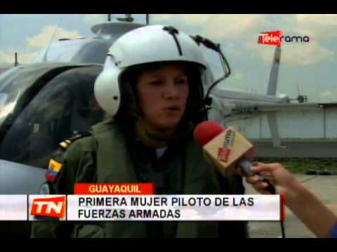 Primera mujer piloto de las fuerzas armadas