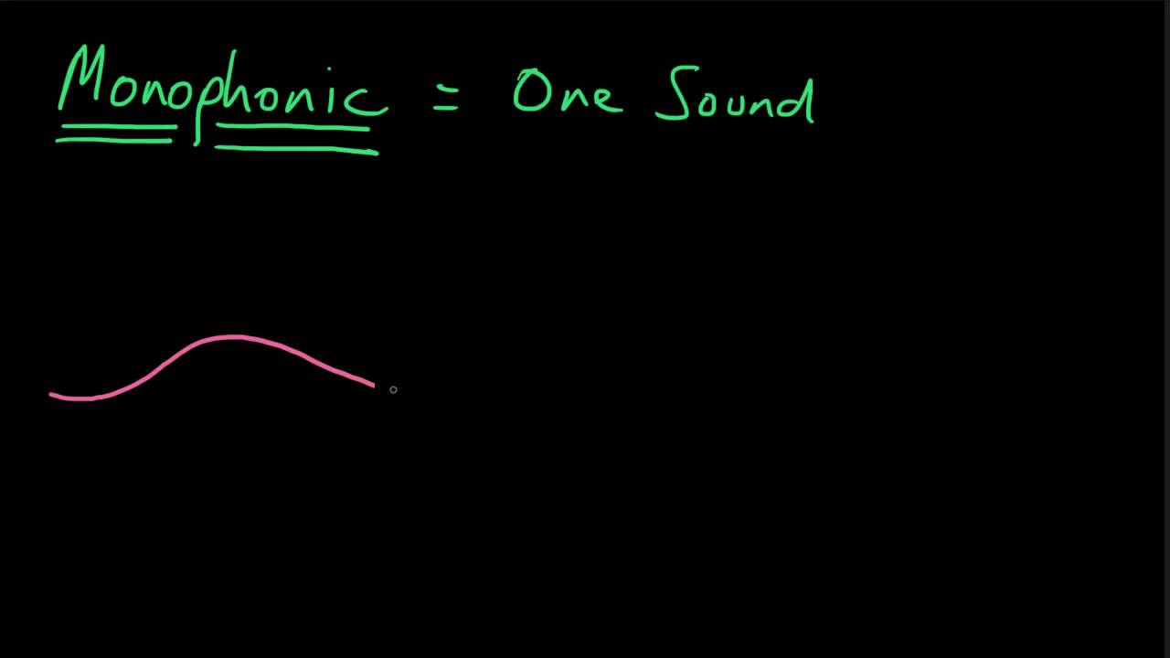 What is a Monophonic Texture? - YouTube