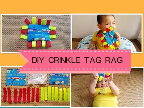 Super Easy Diy Crinkle Tag Rag Baby Toy Youtube